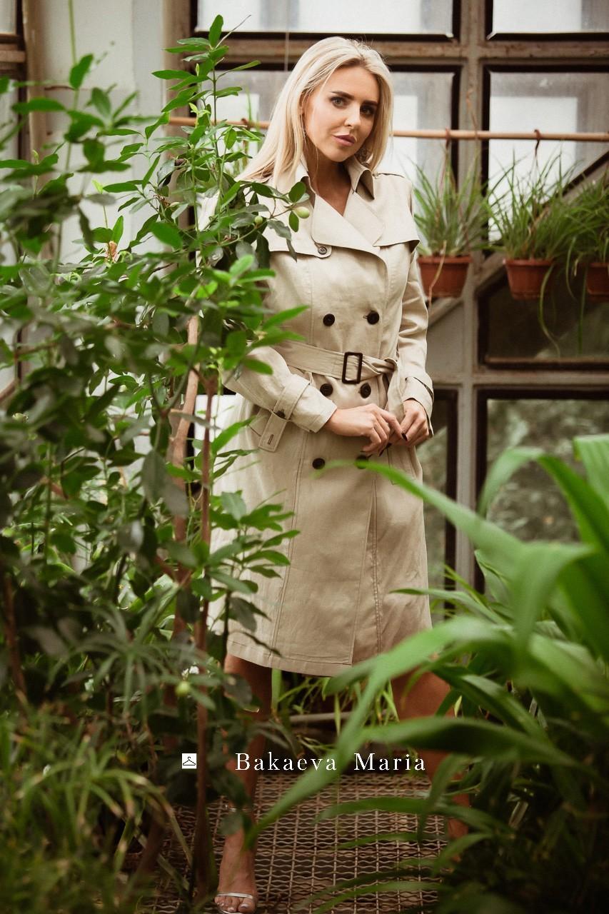 Летнее платье-тренч